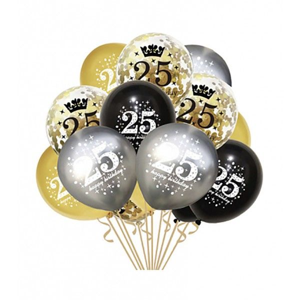SET DE GLOBOS 15PCS