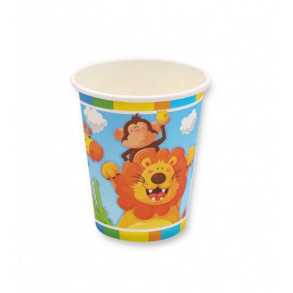 VASOS DE CARTON ANIMALES 6PCS