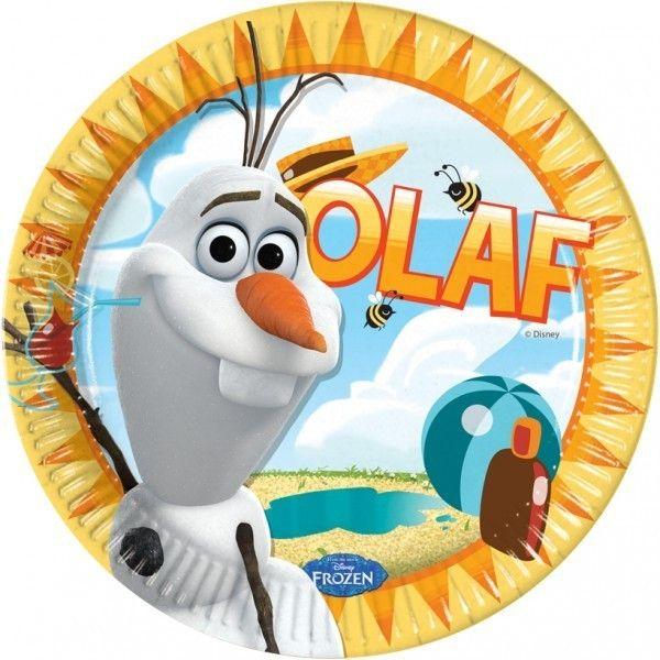 PLATO DE PAPEL 23CM OLAF 8UDS