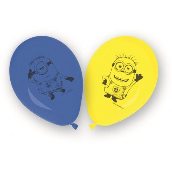 GLOBOS DE LOVELY MINIONS 8UDS