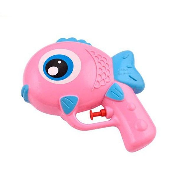 Accesorio piñata pistola de agua pez rosa