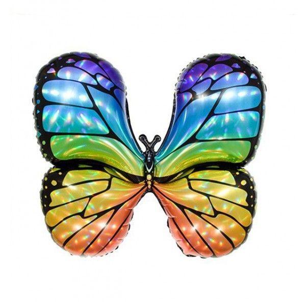 Globo mylar mariposa multicolor 79x73cm