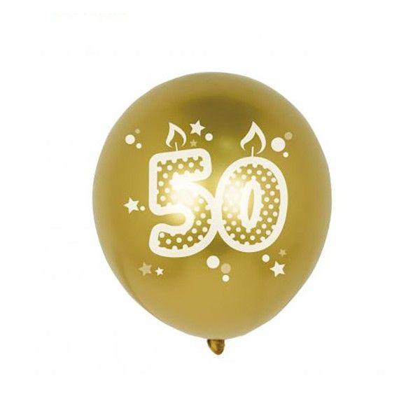 GLOBOS NUMERO 50 6PCS