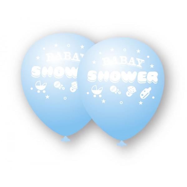 GLOBO BABY SHOWER AZUL 6PCS