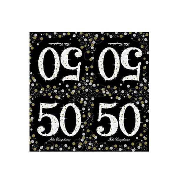 SERVILLETAS 50 AÑOS 20PCS