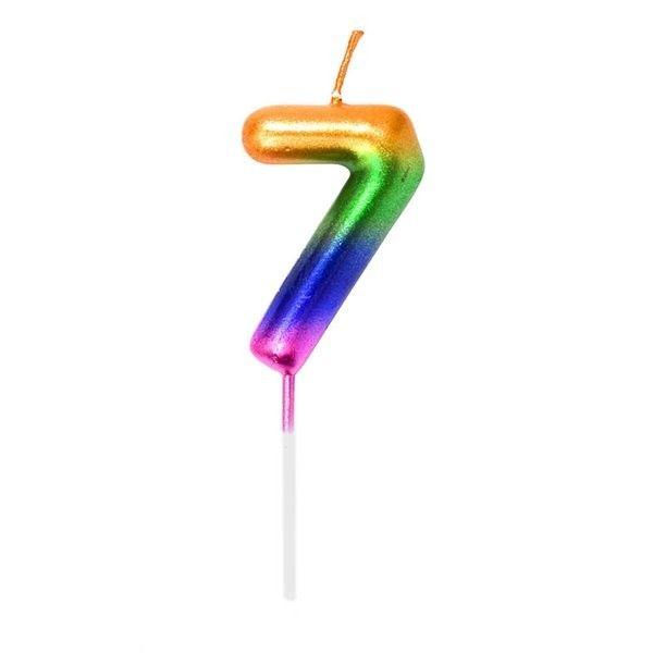 Vela Cumpleanos N.7 Multicolor
