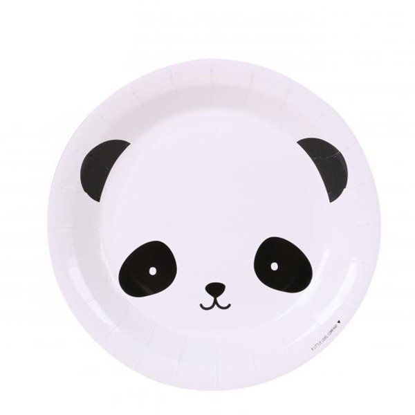 Plato de cartón Panda 23cm 6pcs