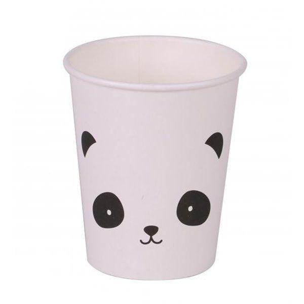 Vasos de cartón Panda 200ml 6pcs