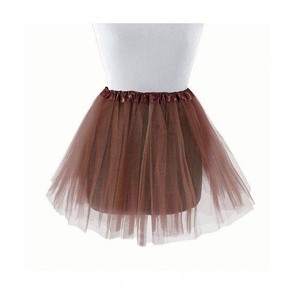 Tutu infantil de bailarina marrón 30 cm