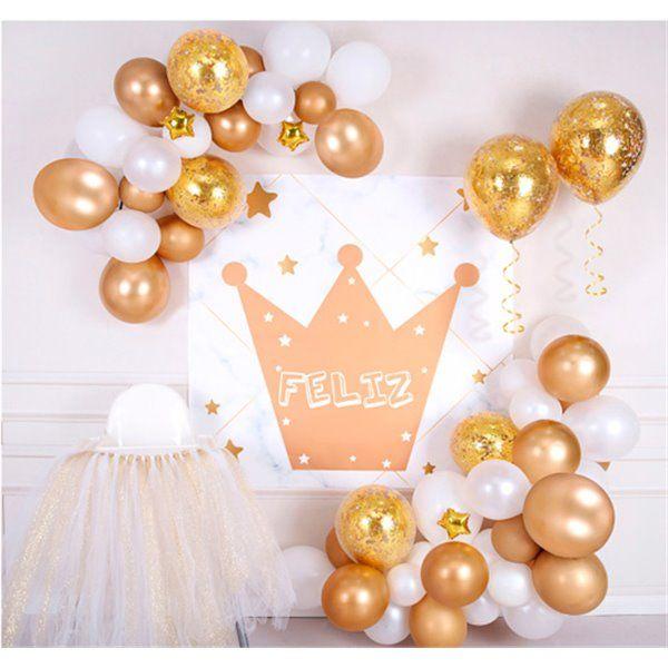Set decoración para fiesta oro 76pcs