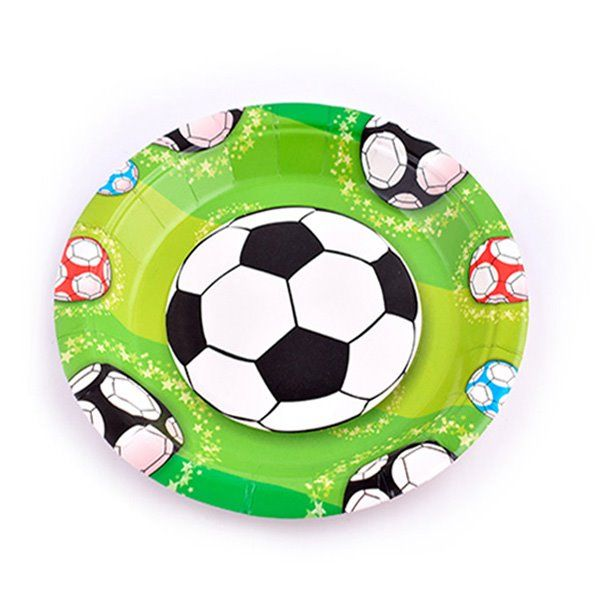 Platos postre 17cm 8pcs fútbol