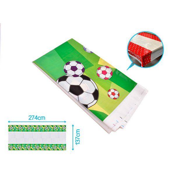 Mantel de plástico 137x274cm fútbol