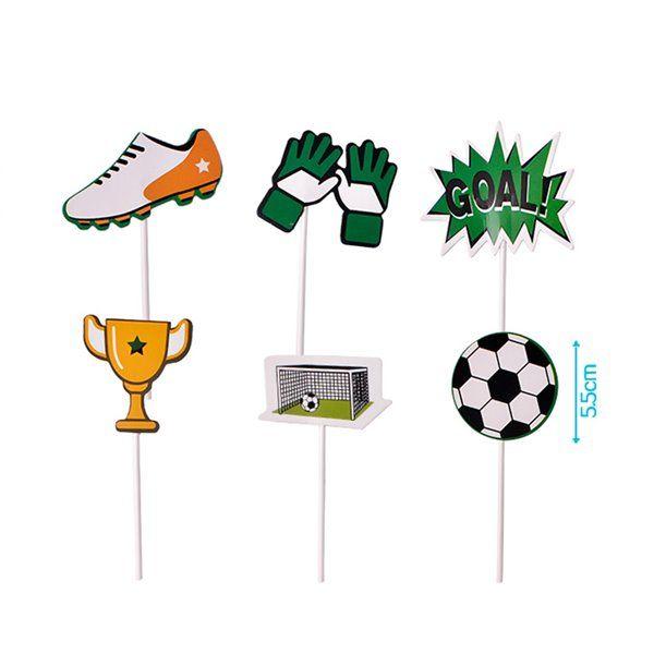 Etiquetas de adorno para pastel fútbol