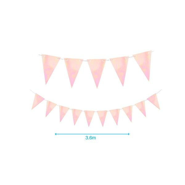 BANDERINES DE BRILLO ROSA 3.6M
