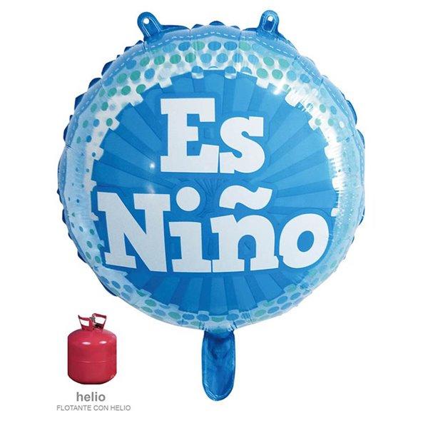 Globo Foil 45cm Es Niño Azul