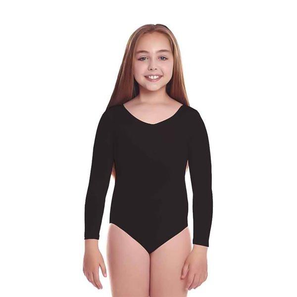 Mono maillot metalico negro niña