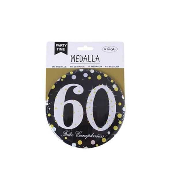 MEDALLA 60 ANOS 15CM