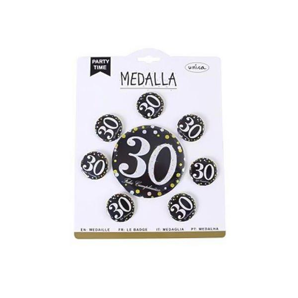 MEDALLA 30 ANOS 7 PCS