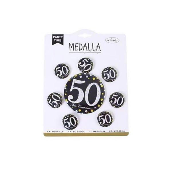 MEDALLA 50 ANOS 7 PCS