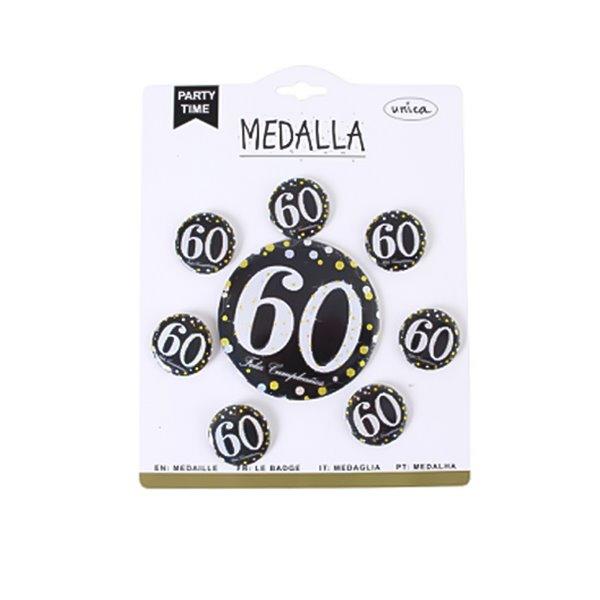MEDALLA 60 ANOS 7 PCS