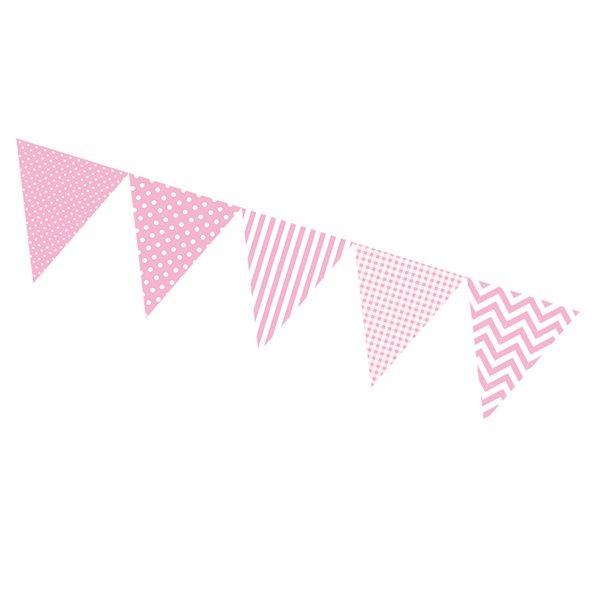 Guirnalda banderines rosa formatos varios