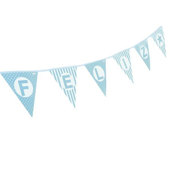 Banderines feliz cumpleaños azul 4.8M