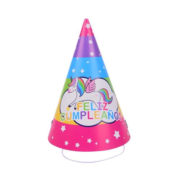 Gorro Unicornio Feliz cumpleaños