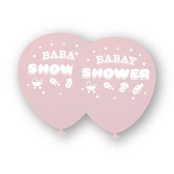 Globo baby shower rosa 6pcs