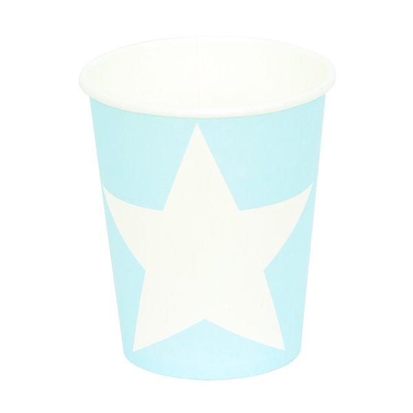 Vasos estrella azul 12pcs