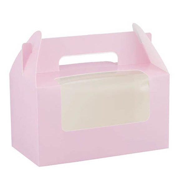 Caja para Cupcakes rosa pastel