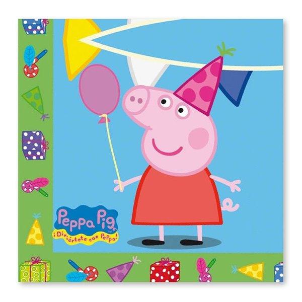 Servilletas Peppa Pig 20 piezas