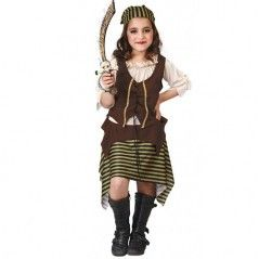 Disfraz infantil bucanera-pirata