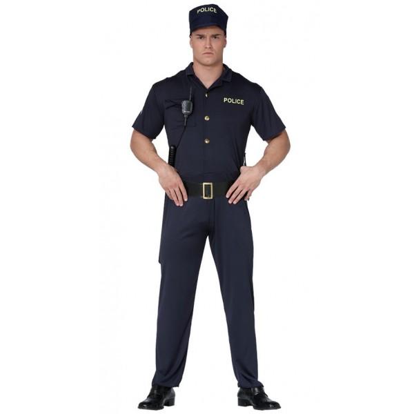 DISFRAZ DE AGENTE DE POLICÍA ADULTO
