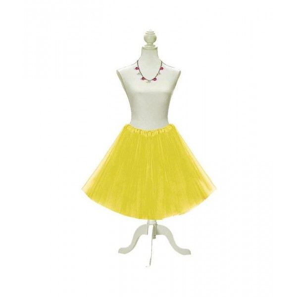 TUTU ADULTA EXTRALARGO 60CM AMARILLO