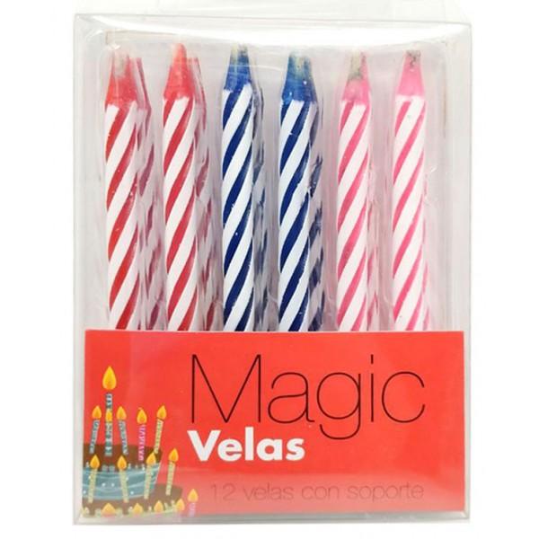 SET DE 12 VELAS MAGICAS