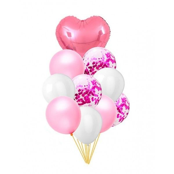 SET DE GLOBOS 10PCS ROSA