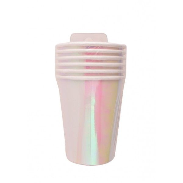 VASOS DE CARTON 150ML BRILLO ROSA
