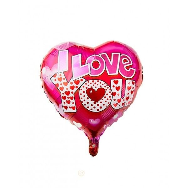 GLOBO I LOVE  YOU CON PALO 51X47CM
