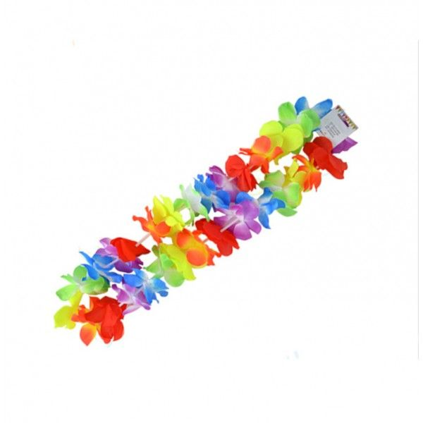 COLLAR FLOR HAWAIANA MULTI COLORES 50CM
