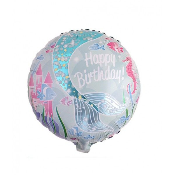 GLOBO MYLAR 45CM OCEANO HAPPY BIRTHDAY