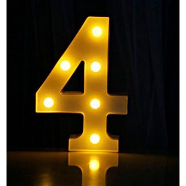 NUMERO LUMINOSO LED 4 22CM