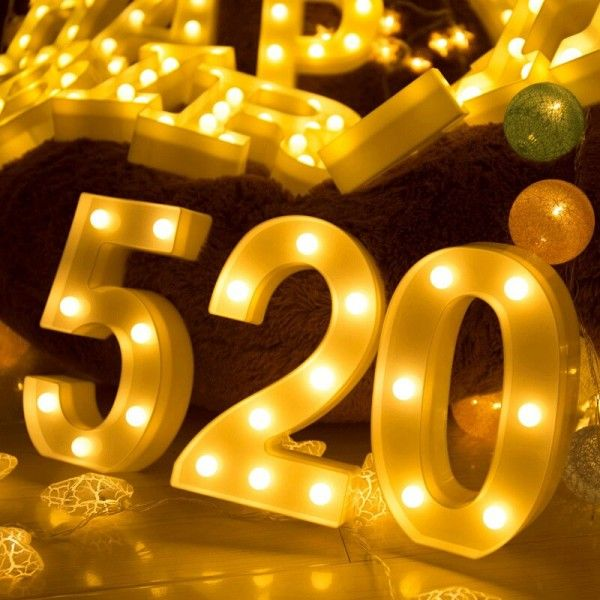 NUMERO LUMINOSO LED 2 22CM