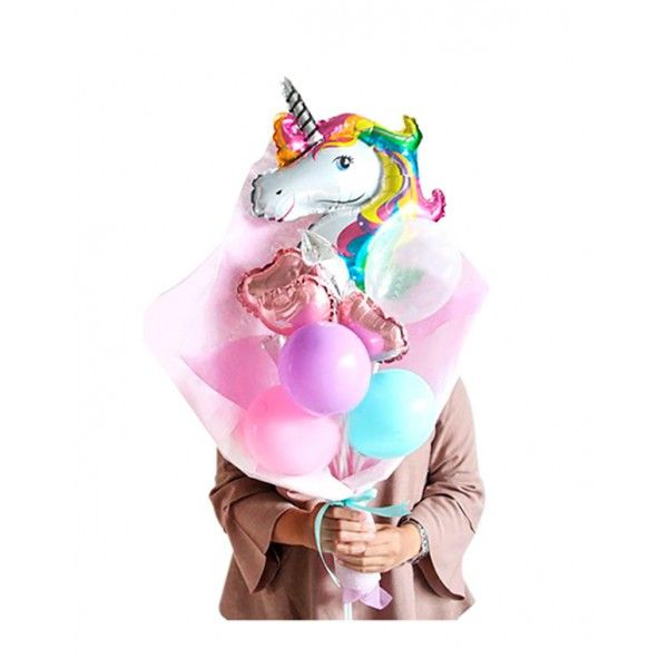 SET GLOBOS 18PCS UNICORNIO