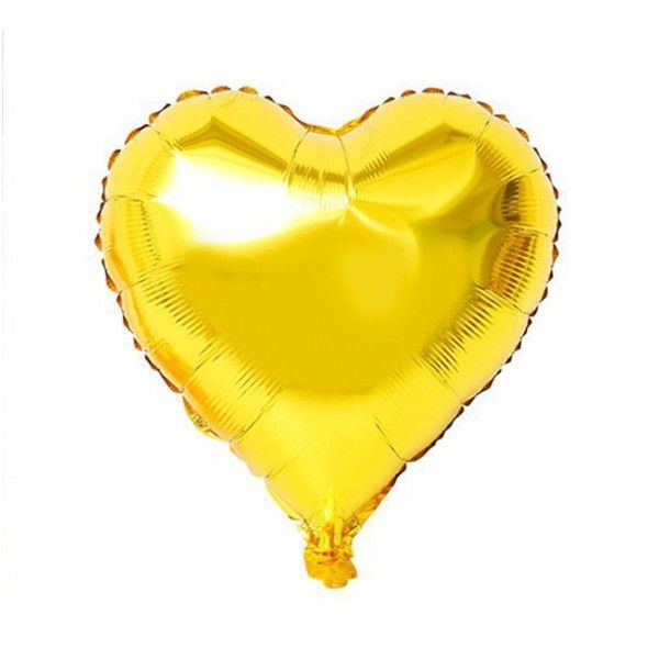 GLOBO MYLAR CORAZON MINI 12.5CM ORO 6PCS