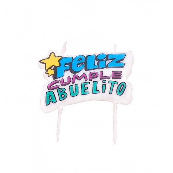 VELA DE FELIZ CUMPLE ABUELITO