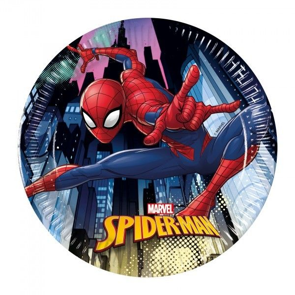6 PLATOS DE PAPEL 20CM SPIDERMAN TEAM UP