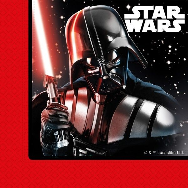 20 SERVILLETAS DE PAPEL 2CAPAS STAR WARS