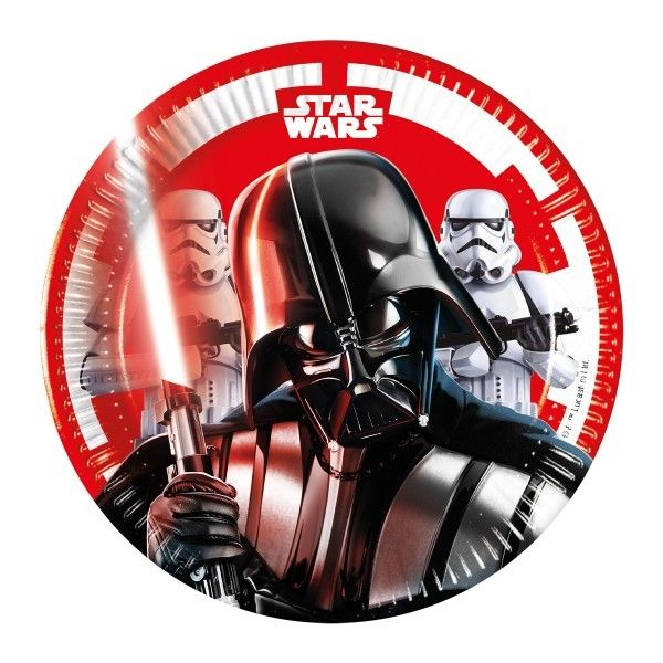 6 PLATOS DE PAPEL 20CM STAR WARS