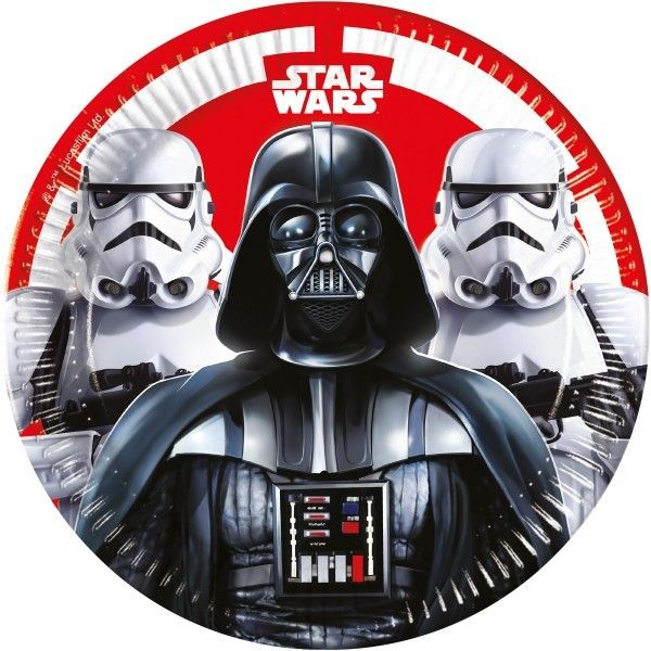 6 PLATOS DE PAPEL 23CM STAR WARS