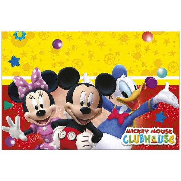 MANTEL DE PLASTICO PLAYFUL MICKEY 120X180CM